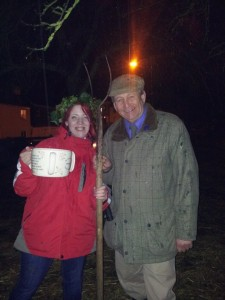 My daughter Lizzie and I back in 2013, when she was made Wassail Queen!